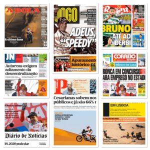 Paulo Gonçalves fez hoje a capa de todos os jornais thumbnail