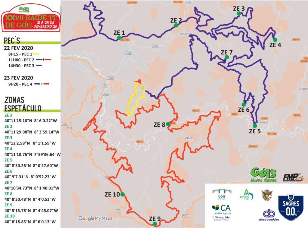 Raid Tt Gois Os Horarios E O Mapa Das Zonas Espetaculo Offroadmoto